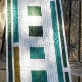Silver Pine Modern Quilt Table Runner Handmade