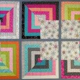Spring Bloom Modern Quilt Handmade
