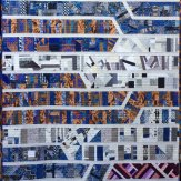 Stay in Your Lane Modern Quilt Handmade