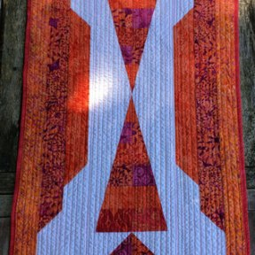 Sunset Table Runner Modern Quilt Handmade