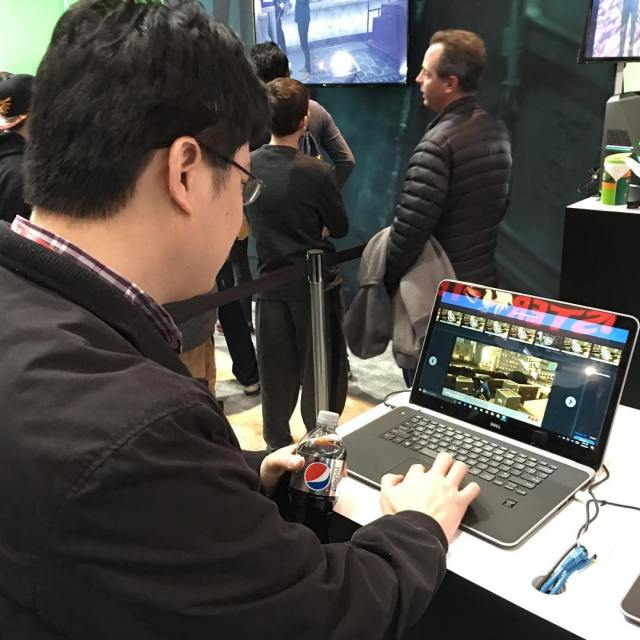 Hsien checking out a John Wick game pax paxeast paxeast2017hellip