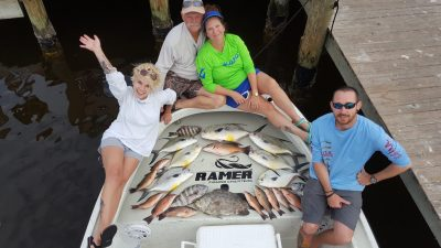 Tripletail Snapper Permit Sheepshead Family Fishing Charter