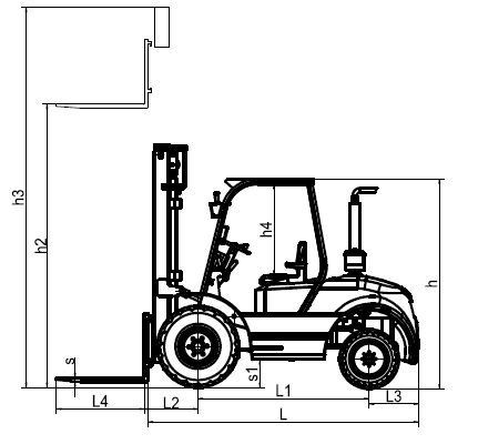 New condition 3ton manual hydraulic forklift truck with