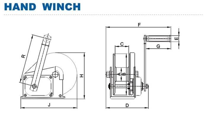 2600LBS Trailer Boat Brake Winch Manual Hand winch_Winches