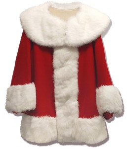 Santa's white fur trim must be brought back to bright white and the red has to stay bright as well