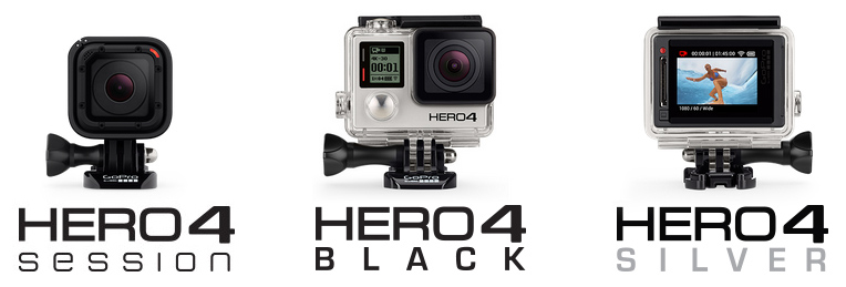 RAM Mounts for the GoPro HERO4 Black, Session and Silver