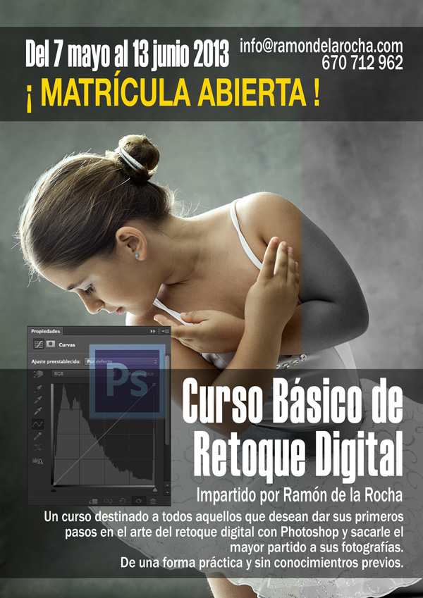 Curso Básico de Retoque Digital con Photoshop en Tenerife