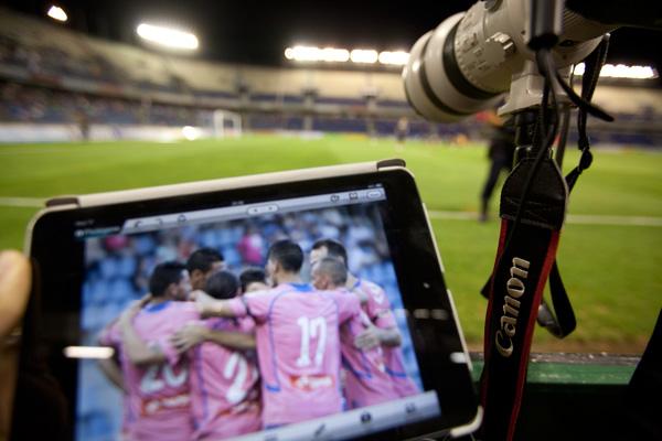 Partido del derbi entre el CD Tenerife y la UD Las Palmas