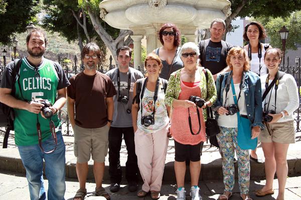 Grupo del Curso Básico de Fotografía Digital impartido en Tenerife