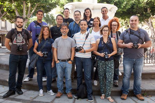 Grupo del Curso Básico de Fotografía Digital celebrado en Tenerife