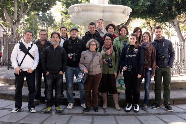 Alumnos del Curso Básico de Fotografía Digital impartido el pasado fin de semana en Tenerife