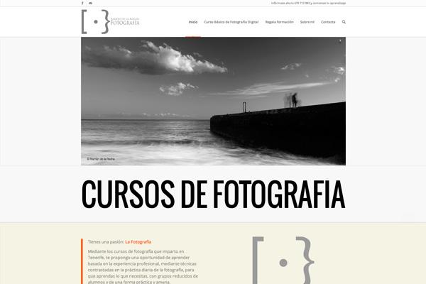 Portada de la nueva web de cursos de fotografía