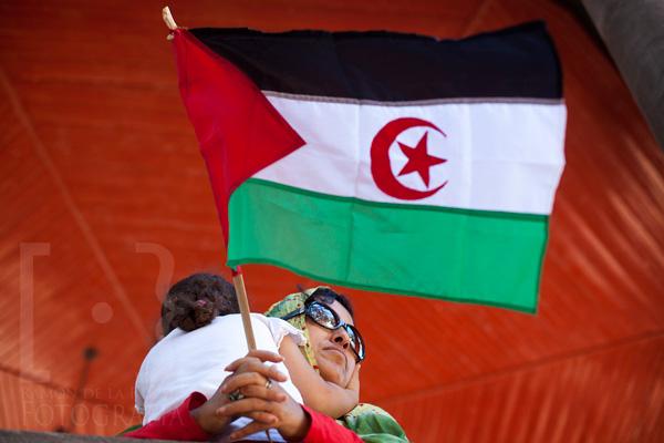 Madre e hija saharauis
