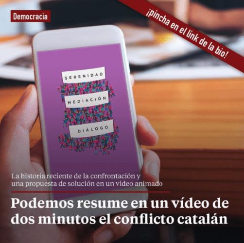 Instagram de Podemos