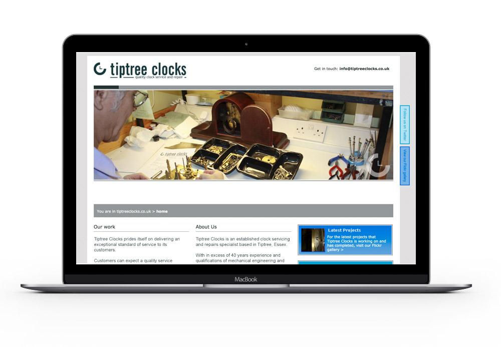 Tiptree Clocks homepage
