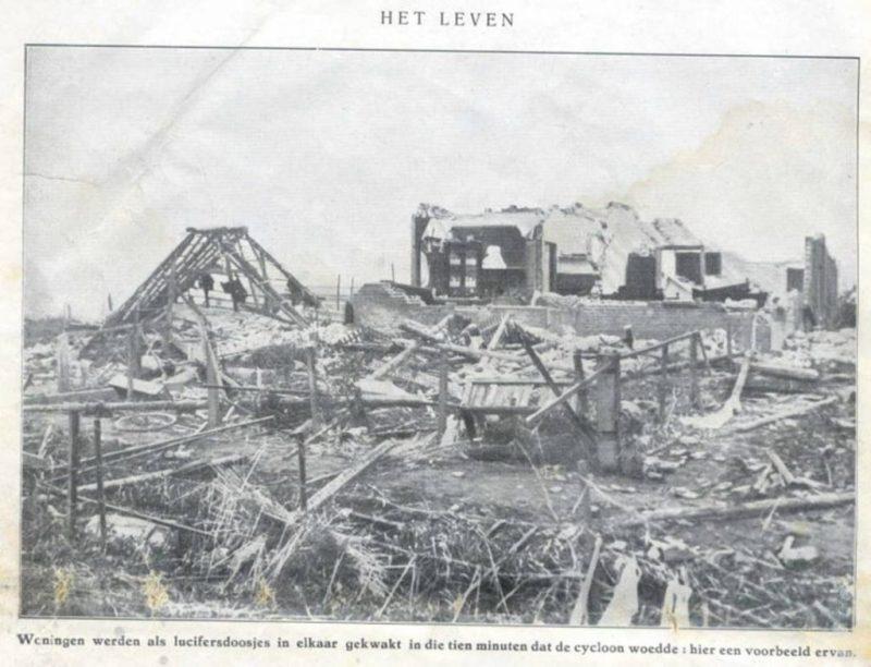Woningen werden als luciferdoosjes op elkaar gekwakt in die tien minuten dat de cycloon woeden - pagina 2 het Leven geillustreerd no 23