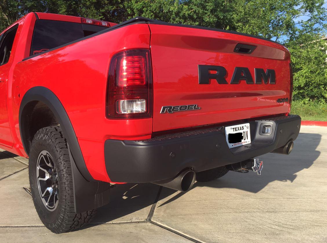 black exhaust tip ram rebel forum