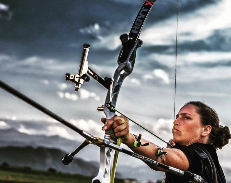 Laurence a Competitive Archer shooting RamRods