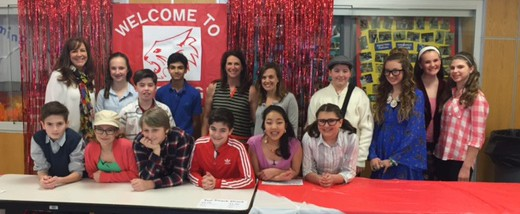 Members of the cast with Mrs. Poelstra and RPEF Trustees