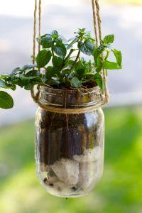 DIY Mason Jar Hanging Herb Planter  Ramshackle Glam