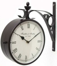[two sided wall clock] - 28 images - vintage double sided ...