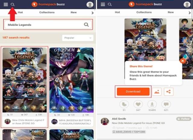 Cara download tema Mobile Legends