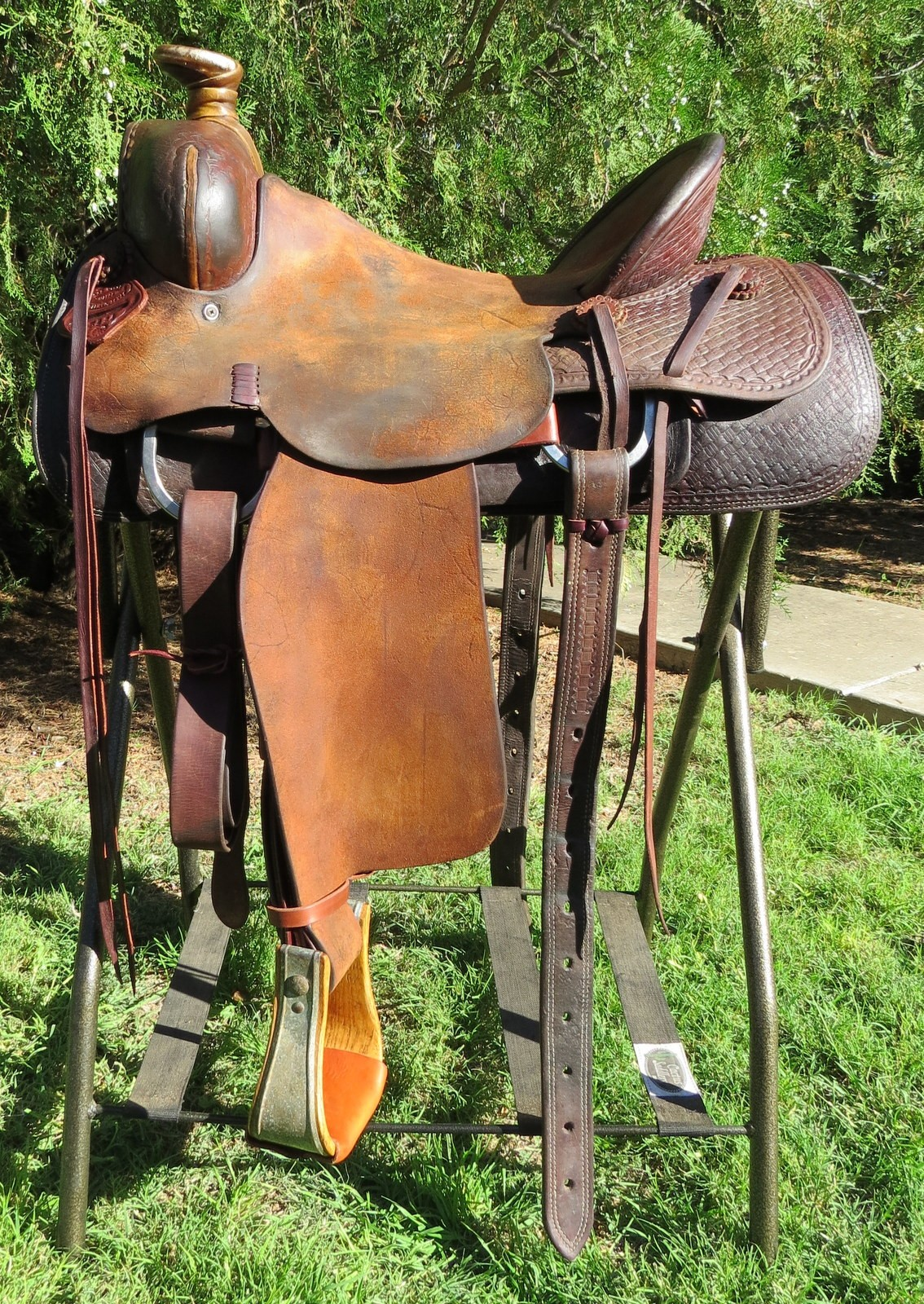 horse saddle office chair hanging wicker egg nz 8941 handmade bob marrs 3884 cowboy 16 seat