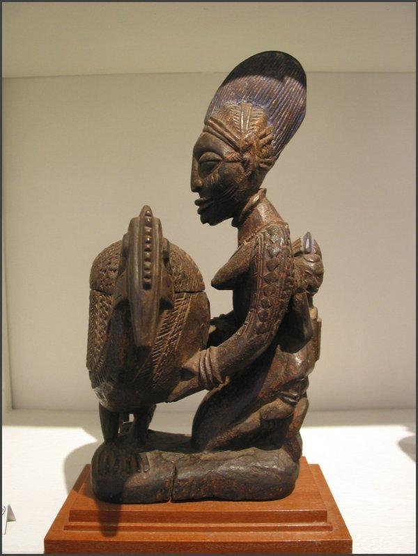 African Offering Bowl Art