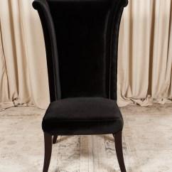 Black Velvet Chair White Wooden High Back Randal Events
