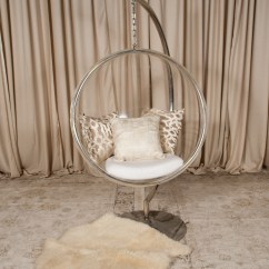 Hanging Chair Clear Cushioned Rocking Acrylic Randal Events