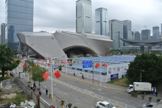 深圳市当代艺术中心与城市规划展示馆(筹建中)(图片由Luigi Laurenzi提供)/ Shenzhen Contemporary Art Museum and City Planning Exhibition Center (in construction)(courtesy Luigi Laurenzi)