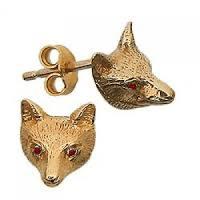 Gold Fox Earrings