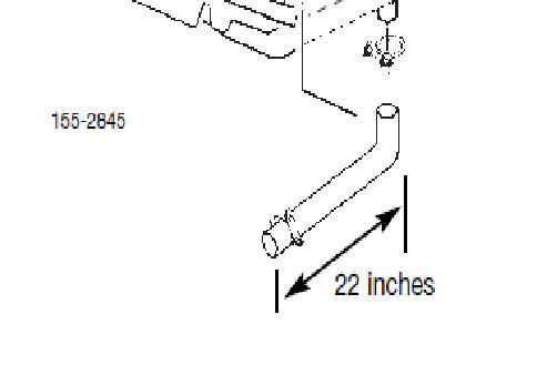 R & K Products : Onan 155-2845 Tailpipe kit for 4000 watt