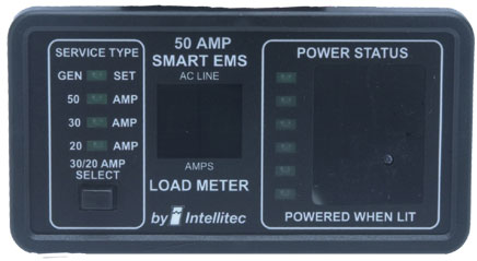 electrical wiring diagrams for rv shear and moment distributed load r & k products : intellitec 0000903150 50a smart ems monitor panel [31-0000903150] - $159.97
