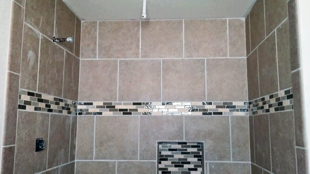 Custom Tiled Walk-In Shower