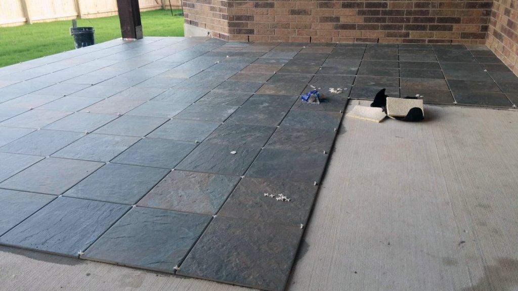 Outdoor Patio Tile Project - San Antonio Texas Flooring Experts