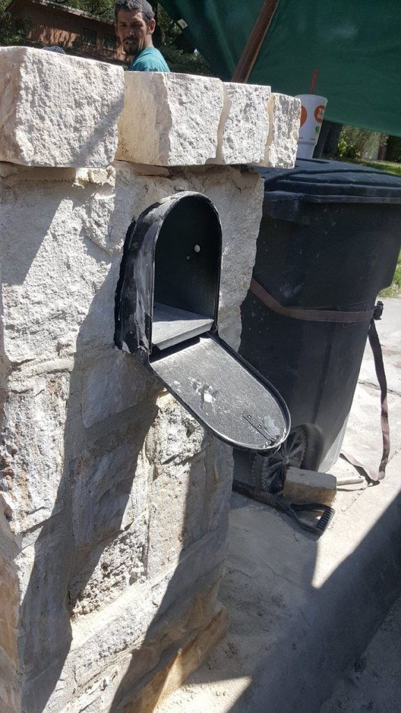 Stone Mailbox by R and M Flooring