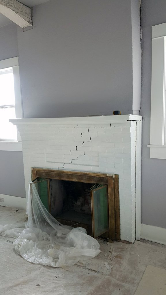 Fireplace Redo Before