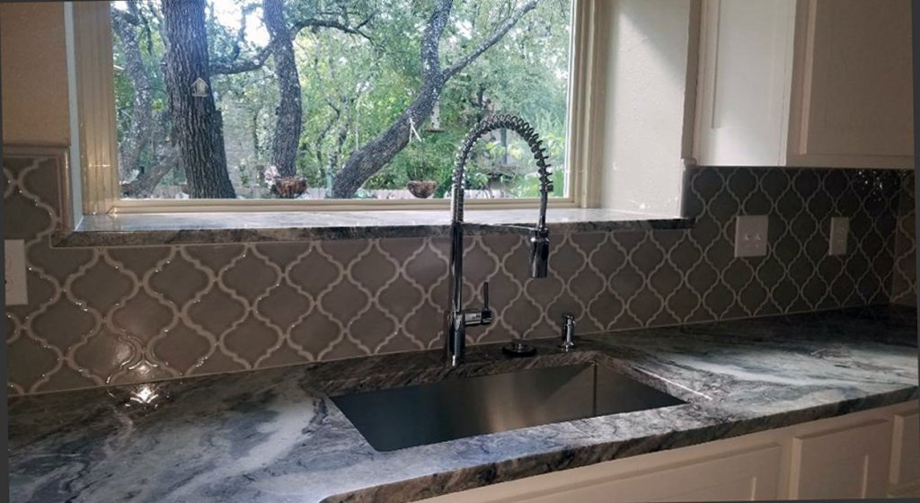 Backsplash Tiling in Kitchen Remodel