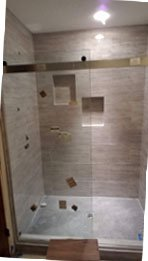 Surround Tub to Standup Shower Conversion