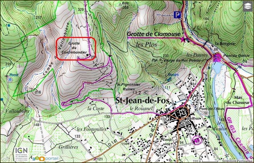 Grotte du Contrebandier St-jean-de-Fos