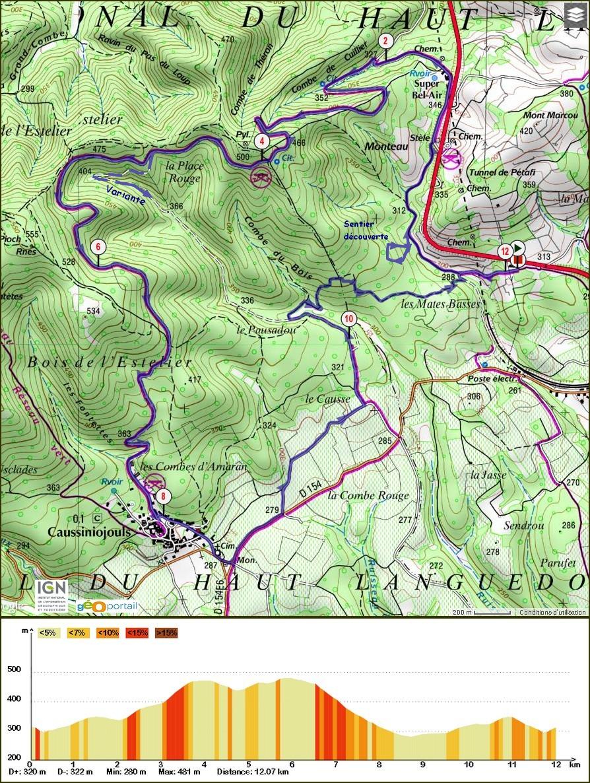 Randonnée Faugères Les Mates Basses 12 Km