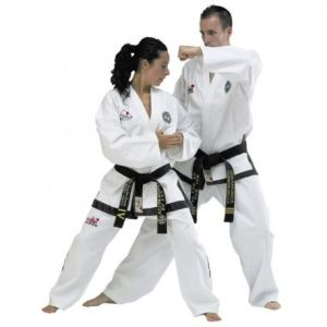 Image of a man and woman in a Tae Kwon Do pose