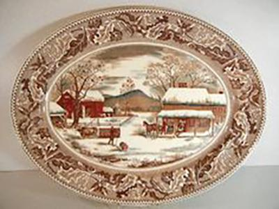 Turkey Platters and Thanksgiving Dinnerware
