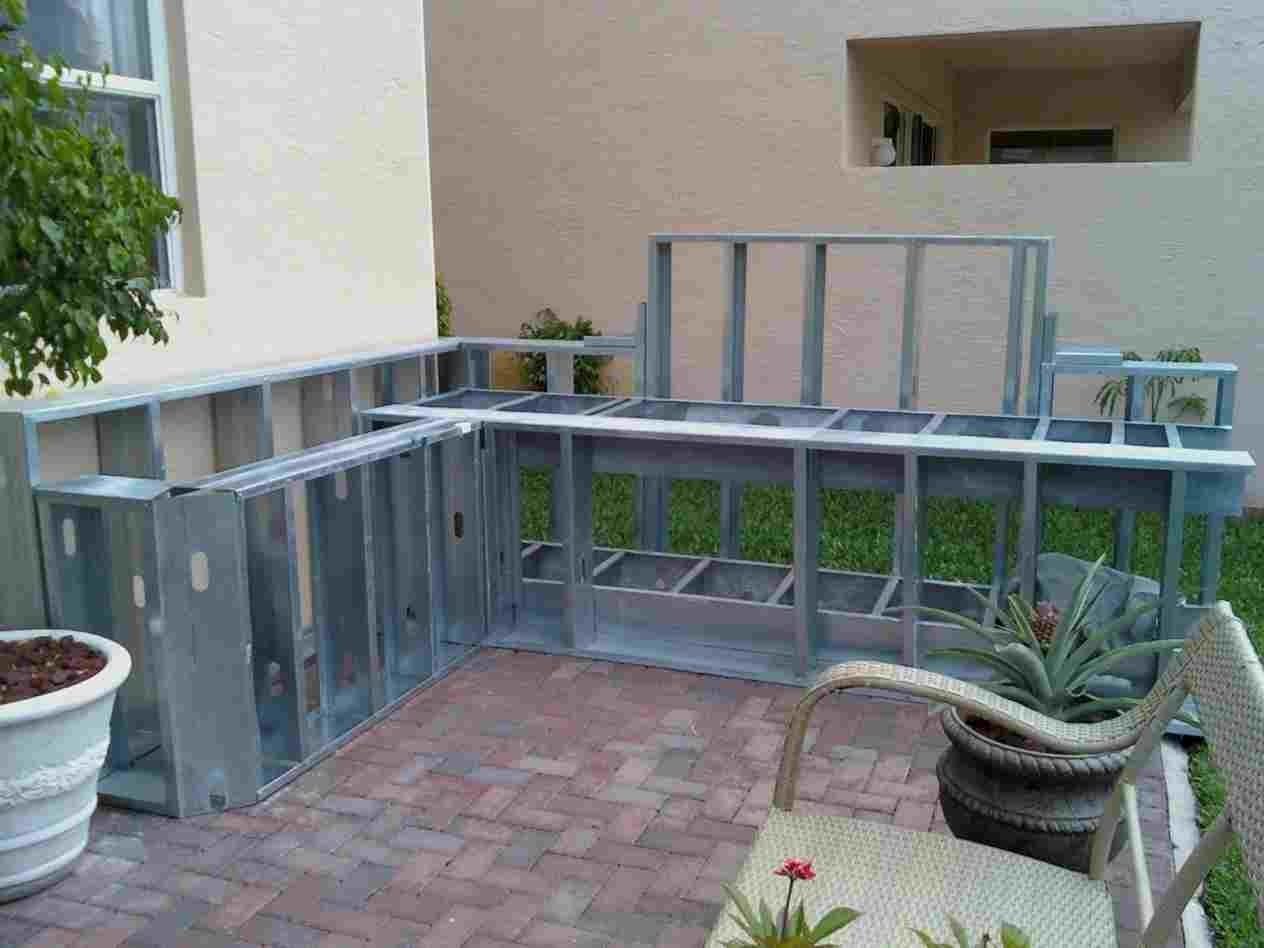 Metal Stud Outdoor Kitchen