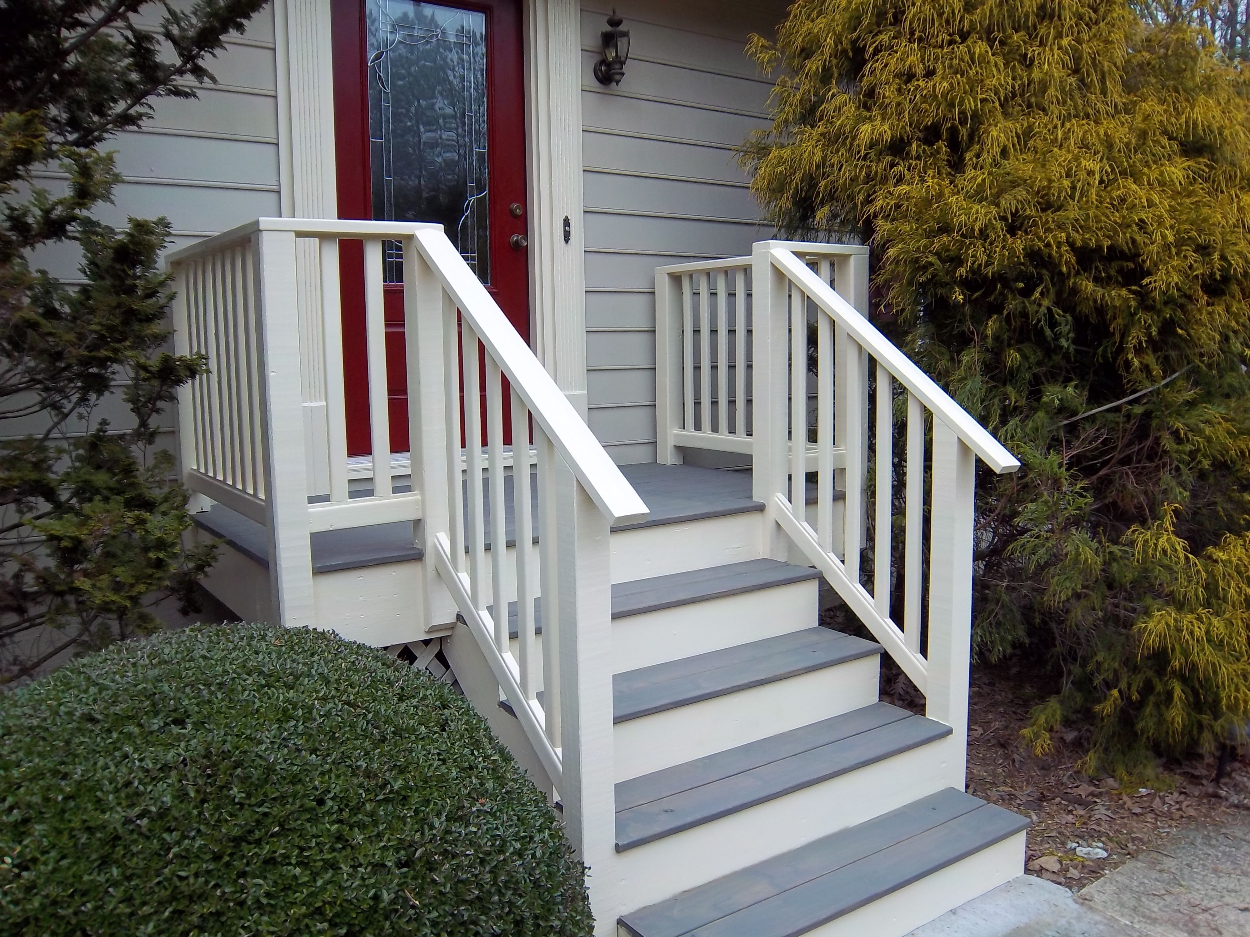 Access Ramp With Handrails For Porch Steps — Randolph Indoor And | Handrails For Front Steps | Small House | Granite | Easy | Cast Iron | Wrought Iron