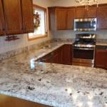 Alaskan White Granite With Tile Backsplash Randolph Indoor And Outdoor Design