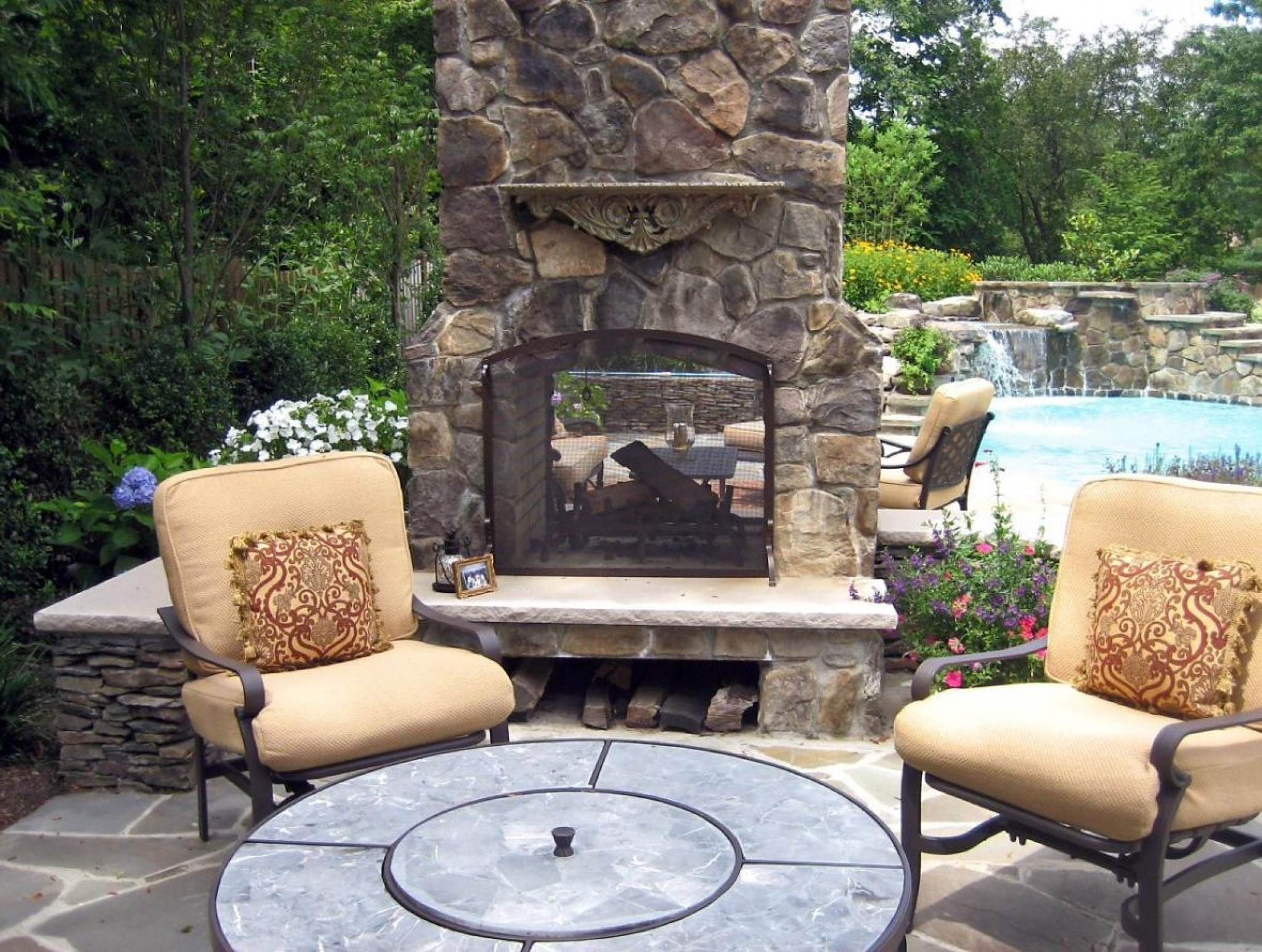 Special Large Clay Chiminea Outdoor Fireplace