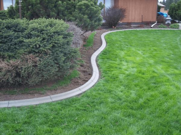 diy concrete landscape edging forms