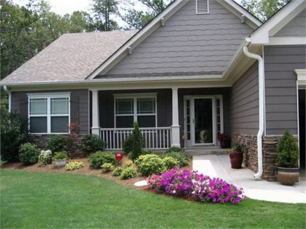 landscaping ideas brick ranch